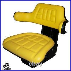 Yellow Tractor Suspension Seat Fits John Deere 2530 2550 2555 2630 2640