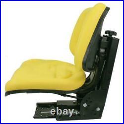Yellow Tractor Suspension Seat Fits John Deere 5200 5210 5300 5310 5400 5410
