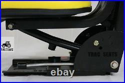 Yellow Tractor Suspension Seat Fits John Deere 5200 5210 5300 5310 5510
